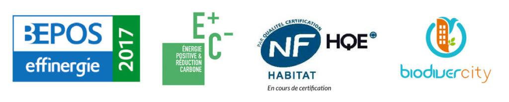 Bondy - Les Terrasses du Canal - Certifications